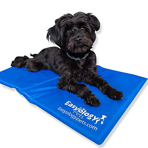 Large Pet Cooling Mat - Cold Gel Pad For Cats and Dogs - Best For Keeping Pets Cool - Perfect Size For Couch - Fits The Easyology Premium Pet Warming and Cooling Bed