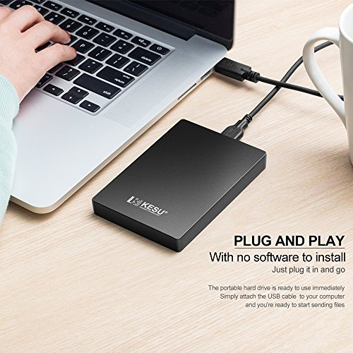 2.5″ 120GB Portable External Hard Drive USB3.0 with Durable Military-grade Shockproof, Anti-Pressure, Waterproof and Slim Pocket-Sized Enclosure for PC, Mac, Desktop, Laptop, Xbox, PS3, PS4-Black