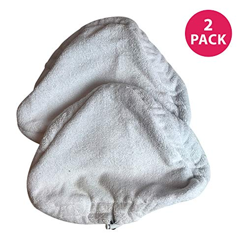 Think Crucial 2 Replacement Microfiber Steam Mop Pads, Fits