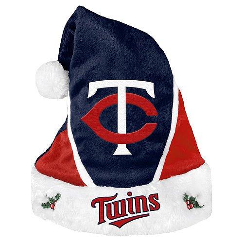 Minnesota Twins Santa Hat - Colorblock 2014 - Licensed MLB Baseball Merchandise