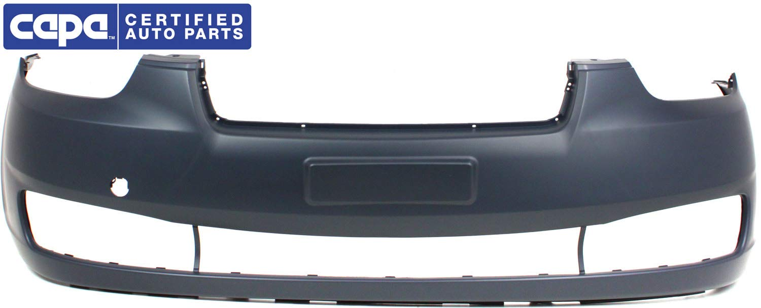 Front Bumper Cover For 2006-2011 Hyundai Accent Hatchback//Sedan w// Tow Hook Hole