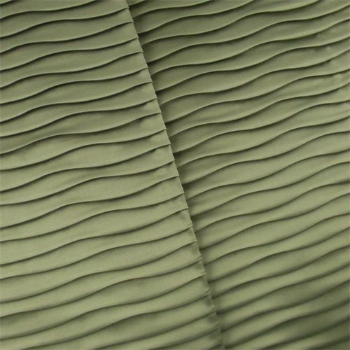 Sage Green Pleated Satin Home Decorating Fabric, Fabric by The Yard
