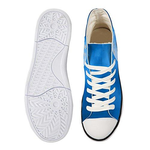 Bigcardesigns Moda Galaxy Lupo Casual High Top Scarpe Di Tela Sneakers Wolf 6