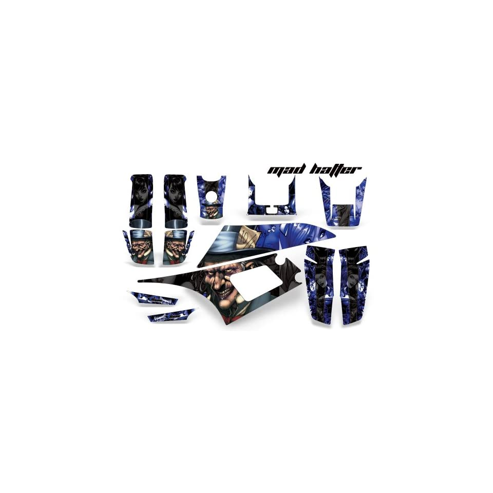 AMR Racing Yamaha Warrior 350 ATV Quad Graphic Kit  Madhatter Blue, Black