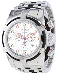 Invicta Men's 14065 Bolt Reserve Chronograph Silver Dial Stainless Steel Watch