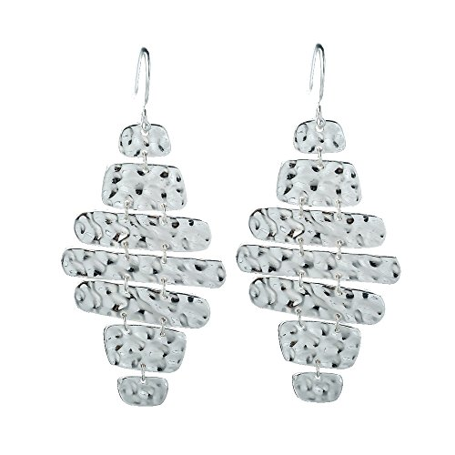 SILVERAGE Sterling Silver Wave Pattern Smooth Drop Dangle - Shipping International Package Prices