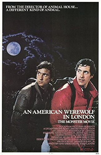 AN AMERICAN WEREWOLF IN LONDON (1981) Primeval Authentic Movie Poster - 27x41 One Sheet - Single-Sided - FOLDED - David Naughton - Jenny Agutter - Griffin Dunne - John Woodvine