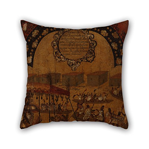 Sage Dots Bedding (20 X 20 Inches / 50 By 50 Cm Oil Painting Miguel Gonzales - La Conquista De México. Tabla X Cushion Covers ,each Side Ornament And Gift To Wedding,bedding,girls,family,festival,kitchen)