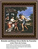 Romulus and Remus Given Shelter by Faustulus, Fine Art Counted Cross Stitch Pattern (Pattern Only, You Provide the Floss and Fabric)