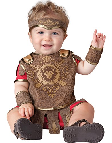 InCharacter Baby Boy's Gladiator Costume, Red/Tan, X-Small by Fun World