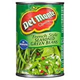 Del Monte French Style Seasoned Green Beans, 398 ml, Pack of 12