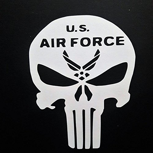 Chase Grace Studio United States Air Force USAF Vinyl Decal Sticker|WHITE|Cars Trucks Vans SUV Laptops Walls Glass Metal|5.5