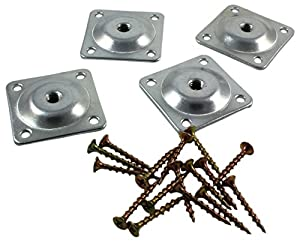 sofa or table leg attachment plate set of 4 5 16 inch brackets for couch. Black Bedroom Furniture Sets. Home Design Ideas