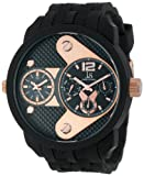 Joshua and Sons Men's JS52RG Black Multi-Function Watch, Watch Central