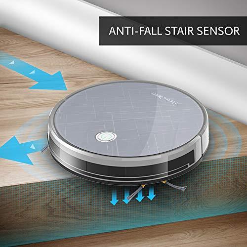 Smart Robot - Gyroscope App Control and Compatible Dock, Step Filter Cleaner Cleans Hardwood Carpet Floor