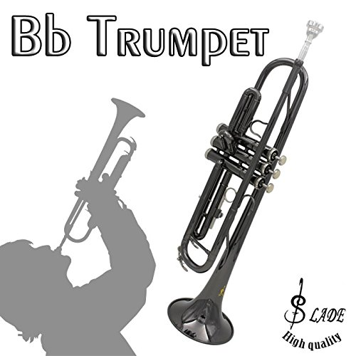 LADE Brass Black Nickel Bb Trumpet With Case Glove by SOUND HOUSE 39 (Image #1)