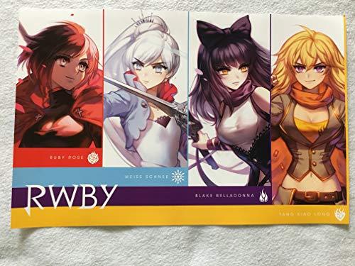 "RWBY 11""x17"" D/S Original Promo Poster SDCC 2018 MINT Ruby Weiss Black Yang VIZ MEDIA"