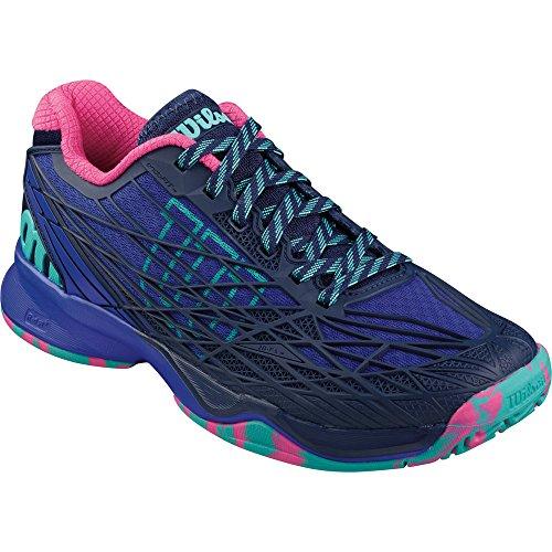 Wilson Kaos W Blue Iris, Zapatillas de Tenis para Mujer Azul