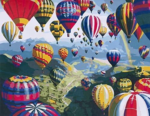 Diy Yagli Boya Tablo Resim Kits Sicak Hava Balon 16 20 Inc