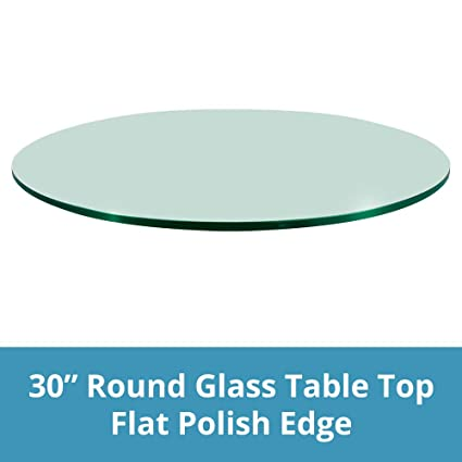 Amazoncom 30 Inch Round Glass Table Top 12 Thick Flat Polish