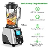 Elechomes CHS2002 1600W Professional Blender, LED Smart Touch Control, 10 Speeds Settings, 10 Cups
