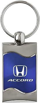 Honda Blue Spun Brushed Metal Key Ring