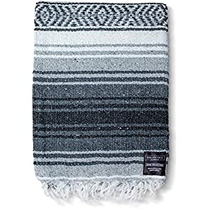Well-Being-Matters 511t9-X-HsL._SS300_ Authentic Mexican Blanket - Yoga Blanket, Handwoven Serape Blanket, Perfect as Beach Blanket, Picnic Blanket, Outdoor…