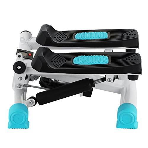 Happybuy Exercise Mini Stepper 220lbs/100kg Mini Stepper Exercise Equipment Monitor Mini Stepper Machine with Band for Exercise (Blue) by Happybuy (Image #3)
