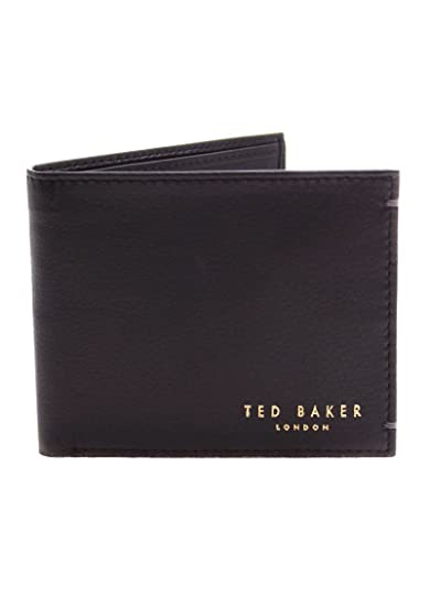 Ted Baker Harvys Mens Leather Bifold Wallet with coin Pocket (Black)