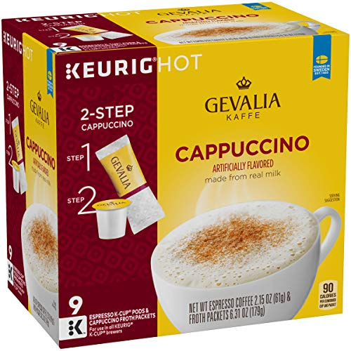 Gevalia Cappuccino K-Cup Pods and Froth Packets, 36 Count (4 Packs of 9) by Gevalia (Image #3)