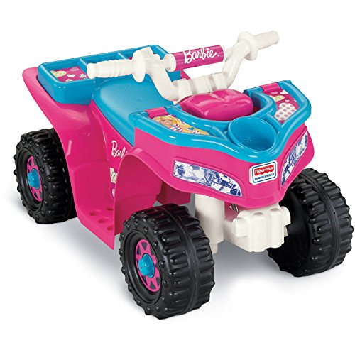 Fisher Price Power Wheels Barbie Sporty ATV-Style Lil' Quad For Toddlers | W6215