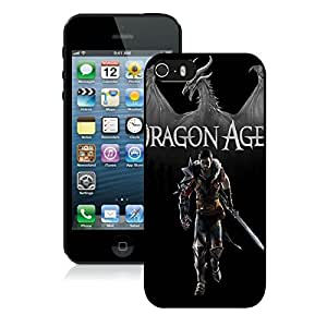 Game Case,Easy Use Case Dragon Age 2 Dragon Warrior Hawke Sword Cover Case for iphone 5 5s 5th in black