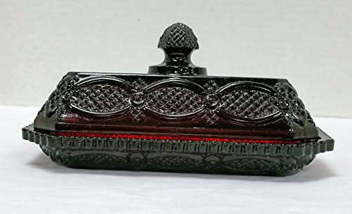 Vintage Avon Cape Cod Lidded Butter Dish -  Wheaton Glass Company