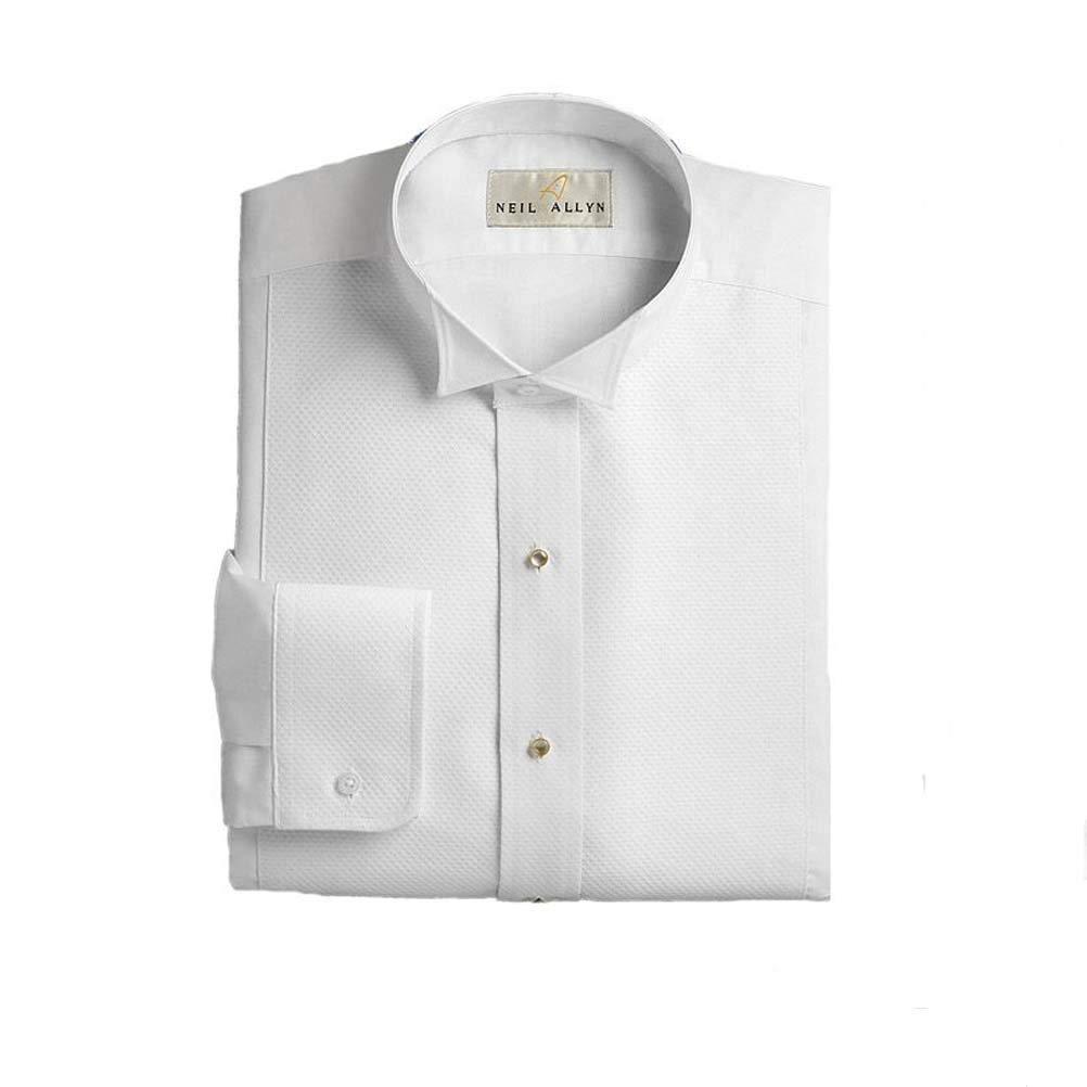 Pique Wing Collar Tuxedo Shirt XL x 38//39 White