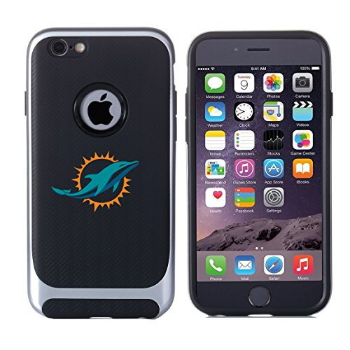 Dolphins iPhone 7 Tough Electroplate Case, 3 in 1 Ultra-thin Smooth Anti-Scratch PC Hard Back Case Full Cover for iPhone 7- Black