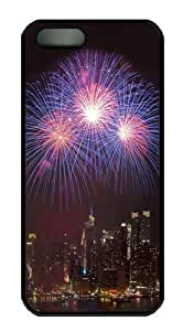 Cool Fireworks City Custom iPhone 5s/5 Case Cover Polycarbonate Black