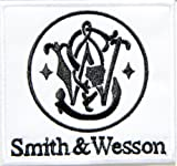 Smith & Wesson S&W Gun Rifle Pistol Shotgun Firearms Knife Logo Sign Symblo Patch Iron on Applique Embroidered T shirt Jacket Costume BY SURAPAN
