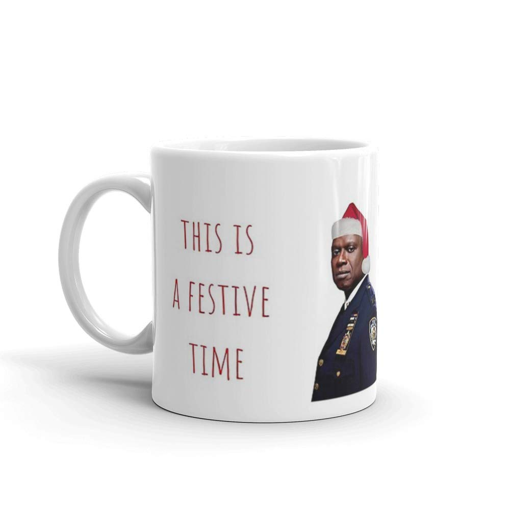 Amazon.com: Brooklyn Nine Nine Captain Holt Christmas card/sticker ... #coffeeLovers