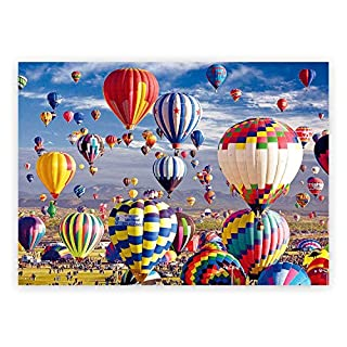 1000 Pieces Jigsaw Puzzles,Puzzles for Adults and Kids,Hot Air Balloon for Kids and Families Large Puzzles