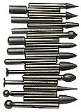 """SE 82322DB 20 piezas Cuchilla de eje para rebaba con diamante de 1/4"""" (6 mm)"""