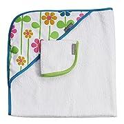JJ Cole Hooded Summer Garden Towel, Pink/Green/Blue/Yellow/White/Orange