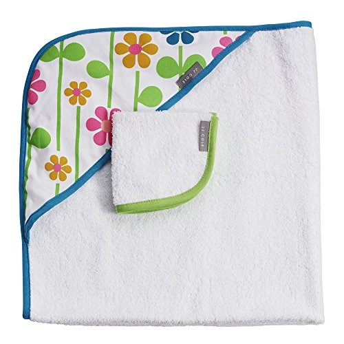 JJ Cole Hooded Summer Garden Towel, (Green English Garden)