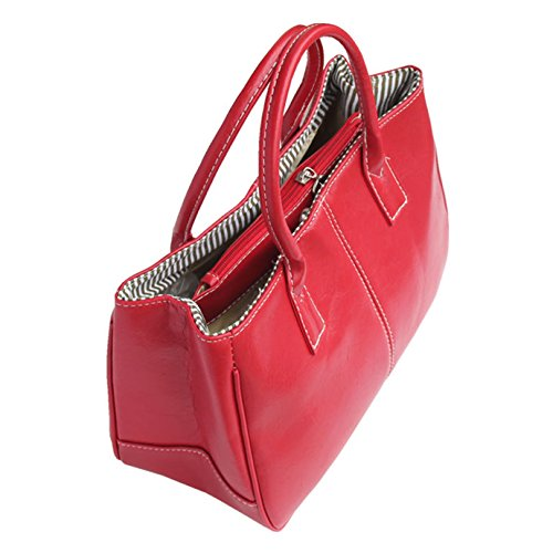 Fashion Story Women Handbag Ladies Hobo Shoulder Bag Large Compartment (Red) by Fashion Story (Image #2)