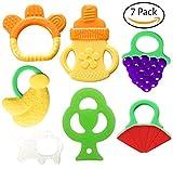 Bassion Baby Teething Toys - BPA Free Natural Organic...