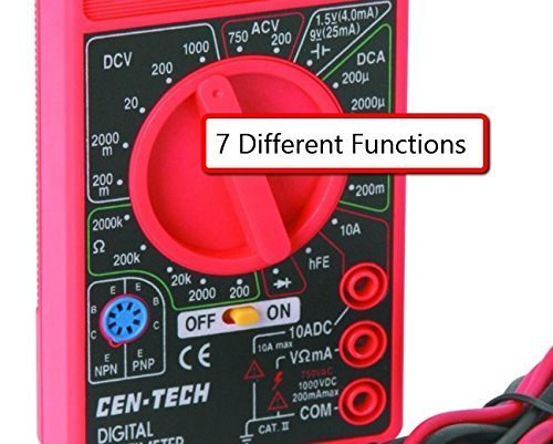 7 기능 정밀 전자 측정을위한 디지털 멀티 미터 & amp; /7 Fun..