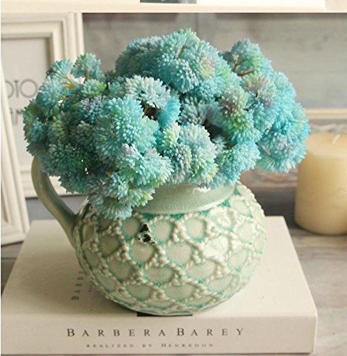 Bouquet Fake Fruit Rare Grass Artificial Flower Home Wedding Decor (Blue)