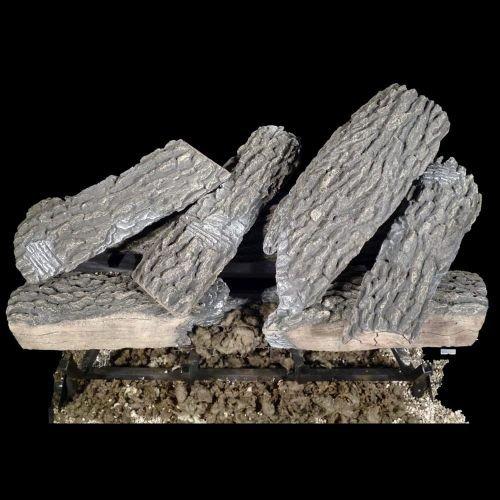 Gas 30 Inch Log Heater - Bevengo GF-SO-30 30 Inch Split Oak Home Hearth Gas Logs