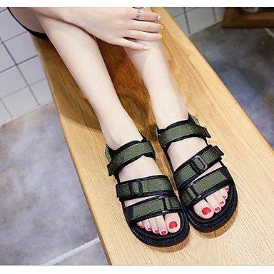 Las mujeres 039 s sandalias de verano de tela confort confort informal Ruby Ejército Verde Negro FlatRubyUS5 UE35 UK3 CN34 US9 / EU40 / UK7 / CN41