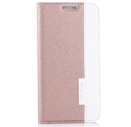 Crossing Pattern (Apexel Crossing Pattern Leather Flip Case/Wallet Pouch/ Wallet Phone Case with Card Slot for Samsung Galaxy S6 + Touch Pen Golden)
