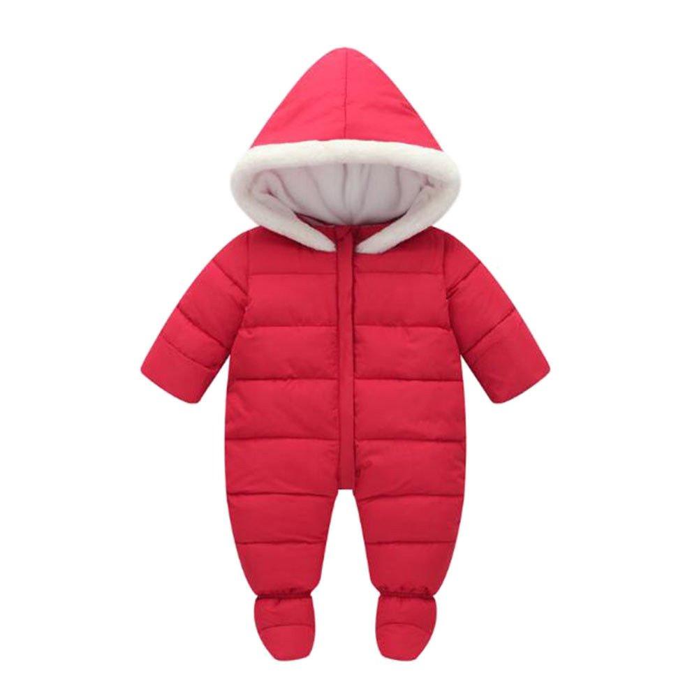 Meijunter Baby Thicken Snowsuit Footies Rompers Hoodie Jumpsuit Winter Outfits